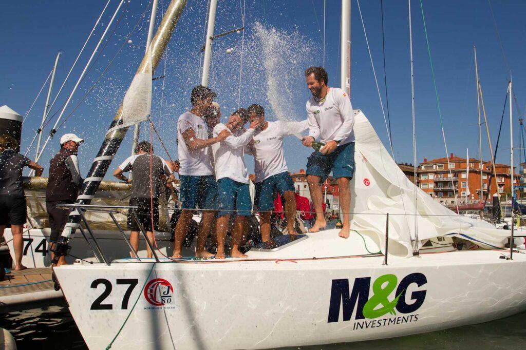 El 'M&G Tressis' de Pablo Santurde se lleva el Mundial J80 de Getxo